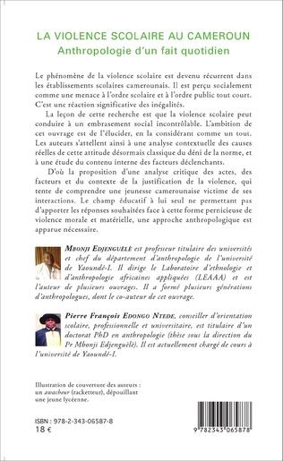 4eme La violence scolaire au Cameroun