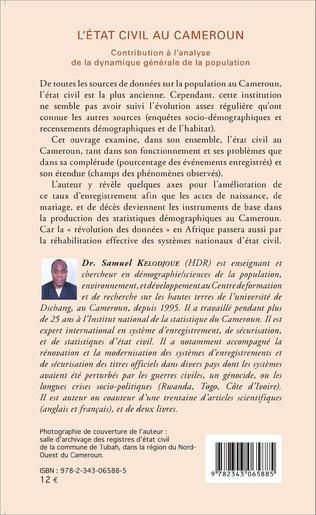 4eme L'état civil au Cameroun