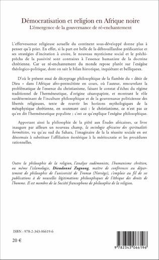 4eme Démocratisation et religion en Afrique noire