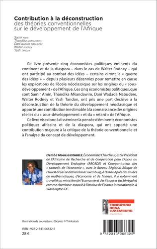 4eme Contribution à la déconstruction des théories conventionnelles sur le développement de l'Afrique