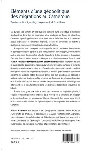 4eme Eléments d'une géopolitique des migrations au Cameroun