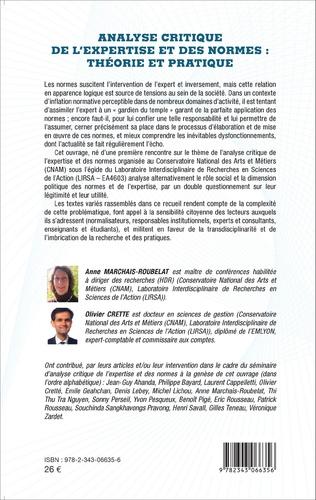 4eme Analyse critique de l'expertise et des normes : théorie et pratique