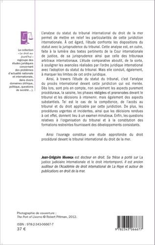 4eme Le statut du tribunal international du droit de la mer