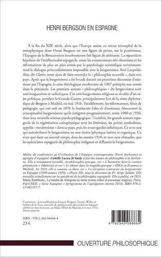4eme Henri Bergson en Espagne