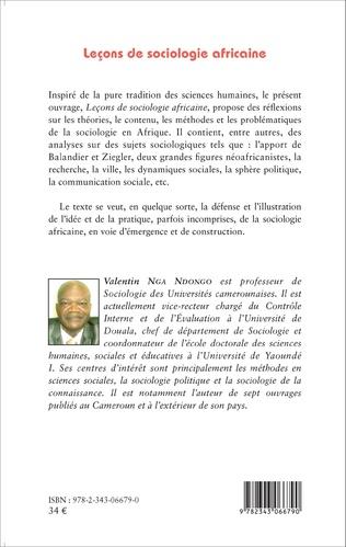 4eme Leçons de sociologie africaine