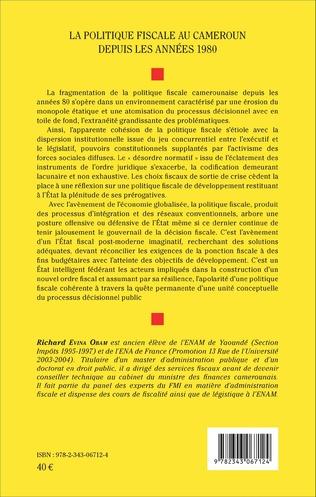 4eme La politique fiscale au Cameroun depuis les années 1980