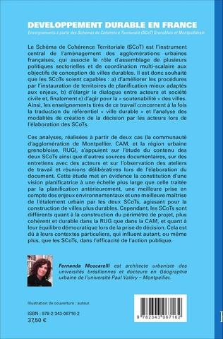 4eme Développement durable en France