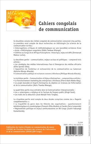 4eme Cahiers congolais de communication vol. XII