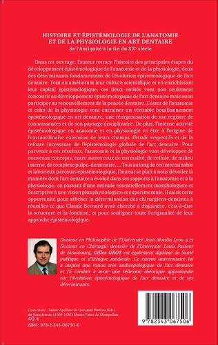 4eme Histoire et épistémologie de l'anatomie et de la physiologie en art dentaire