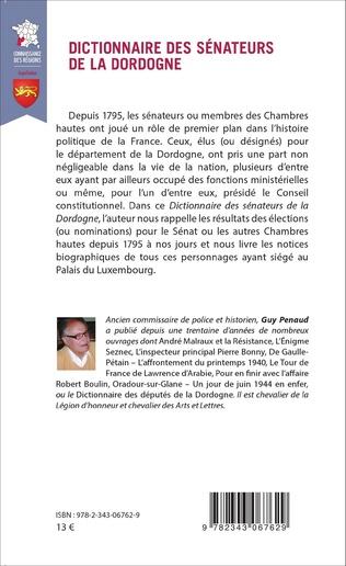4eme Dictionnaire des sénateurs de la Dordogne