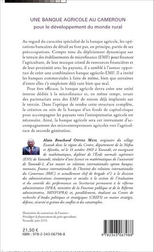 4eme Une banque agricole au Cameroun