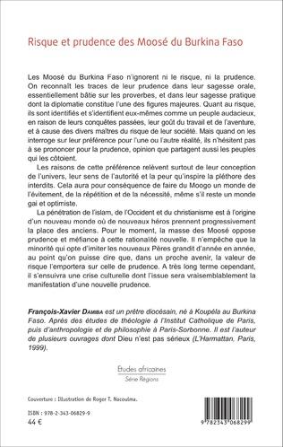 4eme Risque et prudence des Moosé du Burkina Faso
