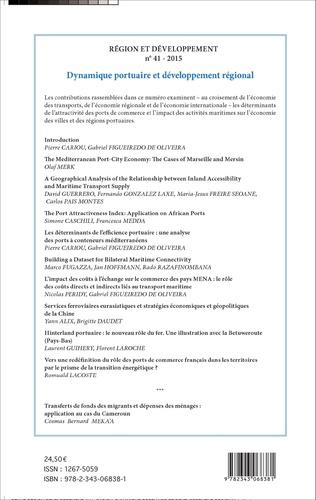 4eme Dynamique portuaire et développement régional