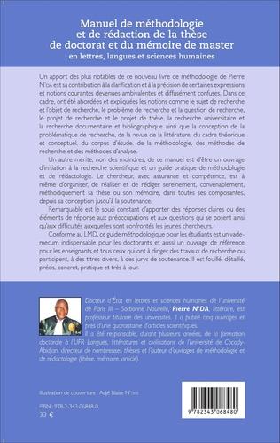 4eme Manuel de méthodologie et de rédaction de la thèse de doctorat et du mémoire de master