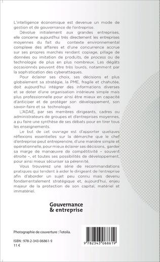 4eme Gouvernance et intelligence économique en PME