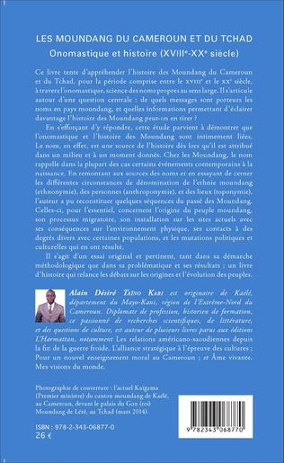 4eme Les Moundang du Cameroun et du Tchad