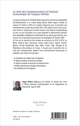 4eme Le droit des investissements et l'analyse économique de l'espace OHADA
