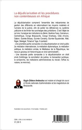 4eme La déjudiciarisation et les procédures non contentieuses en Afrique