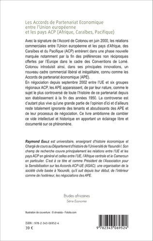 4eme Les Accords de Partenariat Économique entre l'Union européenne et les pays ACP (Afrique, Caraïbes, Pacifique)