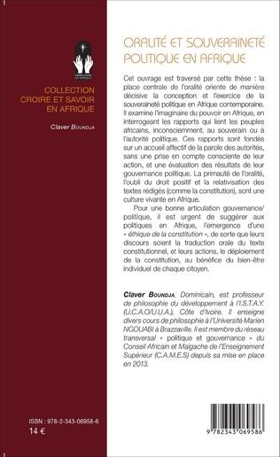 4eme Oralité et souveraineté politique en Afrique