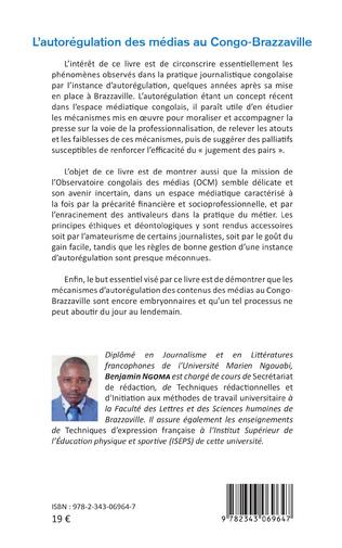 4eme L'autorégulation des médias au Congo-Brazzaville