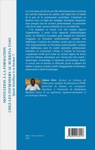 4eme Motivation à la formation chez les infirmiers au Burkina Faso
