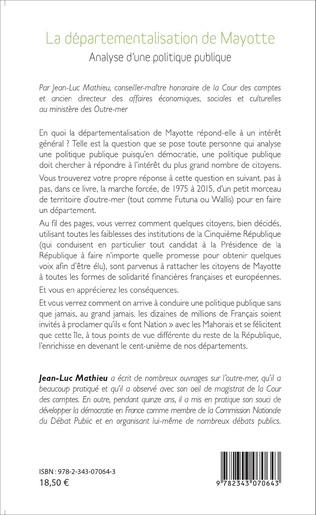 4eme Départementalisation de Mayotte
