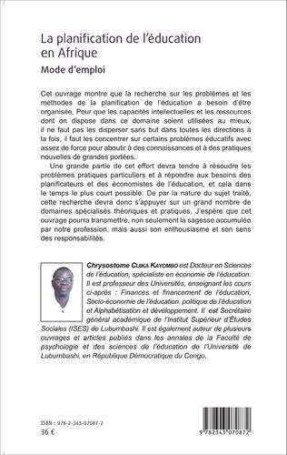 4eme La planification de l'éducation en Afrique.