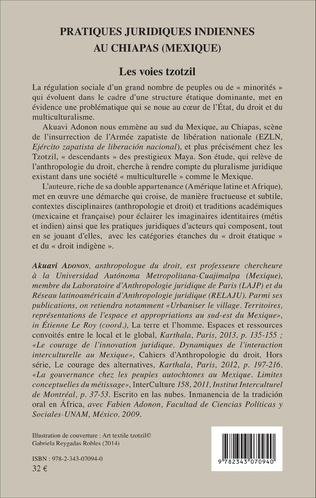 4eme Pratiques juridiques indiennes au Chiapas (Mexique)