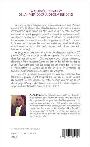 4eme La Guinée-Conakry de janvier 2007 à décembre 2010