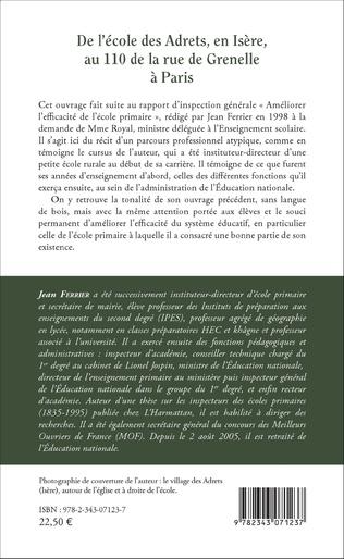 4eme De l'école des Adrets, en Isère, au 110 de la rue de Grenelle à Paris