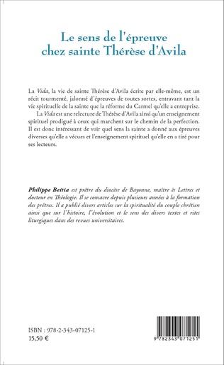 4eme Sens de l'épreuve chez sainte Thérèse d'Avila