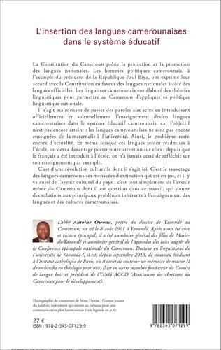 4eme L'insertion des langues camerounaises dans le système éducatif