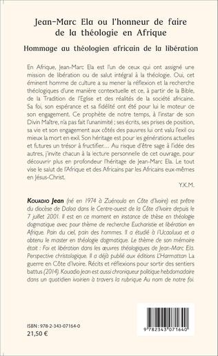 4eme Jean-Marc Ela ou l'honneur de faire de la théologie en Afrique