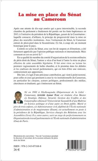 4eme La mise en place du Sénat au Cameroun