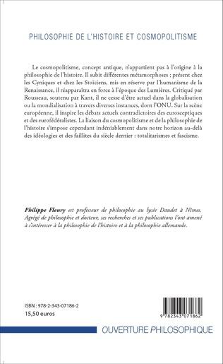 4eme Philosophie de l'histoire et cosmopolitisme