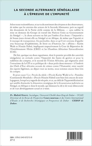 4eme La seconde alternance sénégalaise à l'épreuve de l'impunité