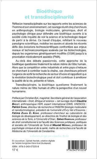 4eme Bioéthique et transdisciplinarité