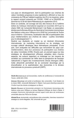 4eme Commerce international, investissements directs étrangers et participation des pays méditerranéens aux chaînes de valeur mondiales