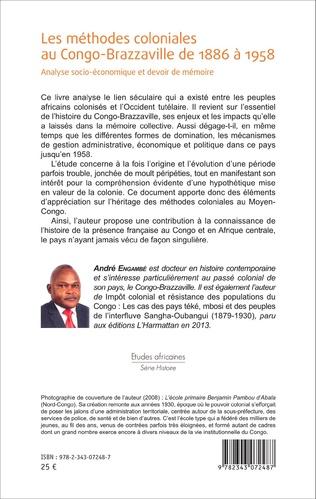 4eme Les méthodes coloniales au Congo-Brazzaville de 1886 à 1958