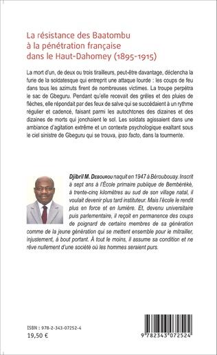 4eme La résistance des Baatombu à la pénétration française dans le Haut-Dahomey