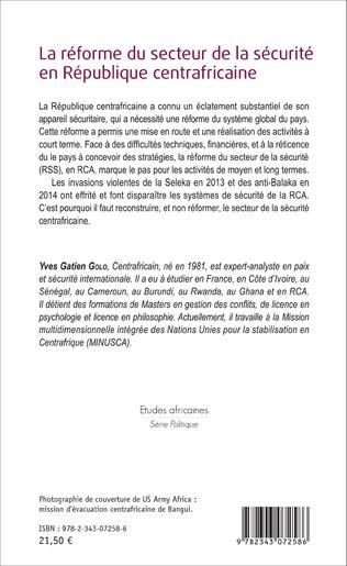 4eme La réforme du secteur de la sécurité en République centrafricaine