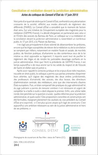 4eme Conciliation et médiation devant la juridiction administrative