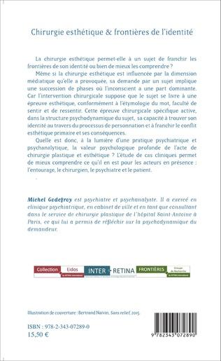 4eme Chirurgie esthétique & frontières de l'identité