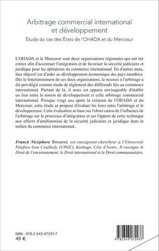 4eme Arbitrage commercial international et développement
