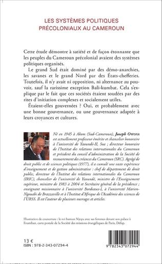 4eme Les systèmes politiques précoloniaux au Cameroun