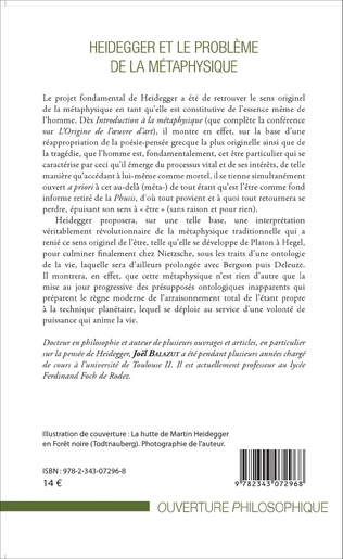 4eme Heidegger et le problème de la métaphysique