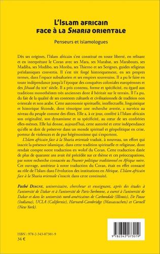 4eme L'Islam africain face à la Sharia orientale