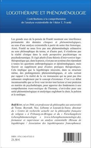 4eme Logothérapie et phénoménologie