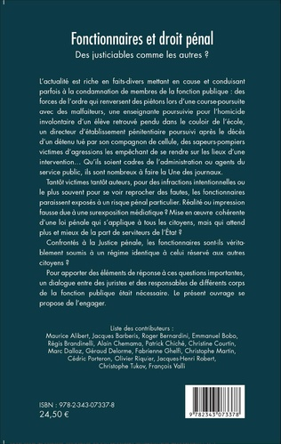 4eme Fonctionnaires et droit pénal